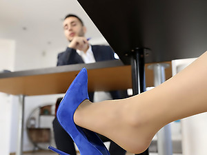 She\'s Working Her Shoes Off